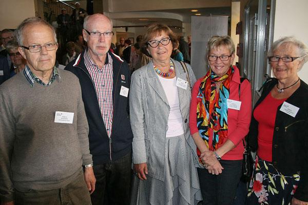 Delegationen från Borås. Från vänster Rolf Bååth, Torbjörn Corbé, Lotta Löfgren Hjelm, Lena Svensson och Ingrid Johansson